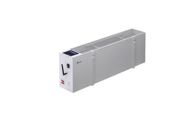 N2806B - wiszący energooszczędny grzejnik elektryczny NOGEN o mocy 600W przeznaczony do pomieszczeń powierzchni 12m2 i kubaturze nie większej niż 30m3.