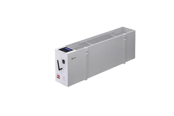 N2810B - wiszący energooszczędny grzejnik elektryczny NOGEN o mocy 1000W przeznaczony do pomieszczeń powierzchni 20m2 i kubaturze nie większej niż 50m3.